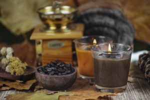 Aromatic Candles. Coffee and Sandalwood Scented Candles